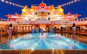 Lido Pool bei Nacht
